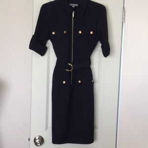 Navy Blue Military Dress